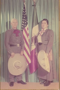 John and Maria Rothenbach in their Charro dress.