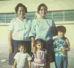 Berta, Guillermo's wife with their 2 children, her sister and niece